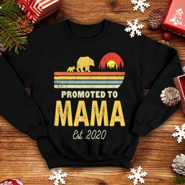 Top Promoted To Mama Bear Est 2020 First Time Mom Bear Vintage shirt