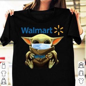 Great Star Wars Baby Yoda Mask Hug Walmart Covid-19 shirt