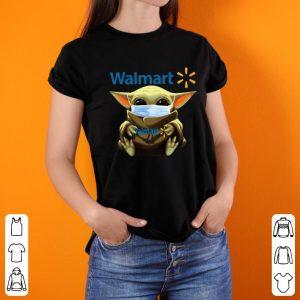 Great Star Wars Baby Yoda Mask Hug Walmart Covid-19 shirt 2
