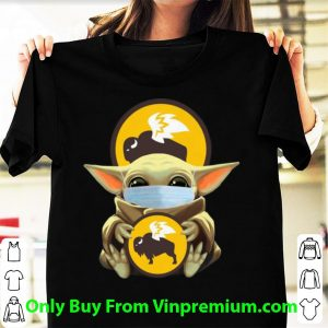 Pretty Star Wars Baby Yoda Mask Hug Buffalo Wild Wings Covid-19 shirt