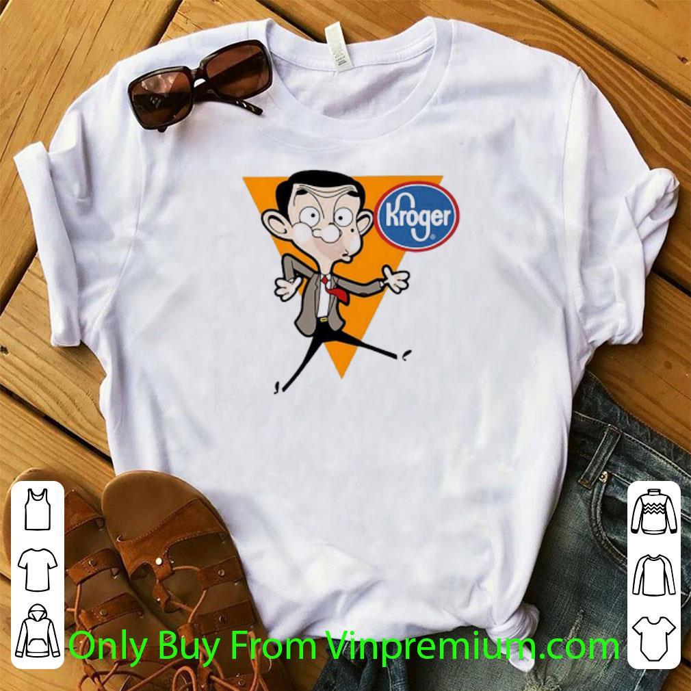 Great Mr. Bean Cartoon Kroger Logo shirt