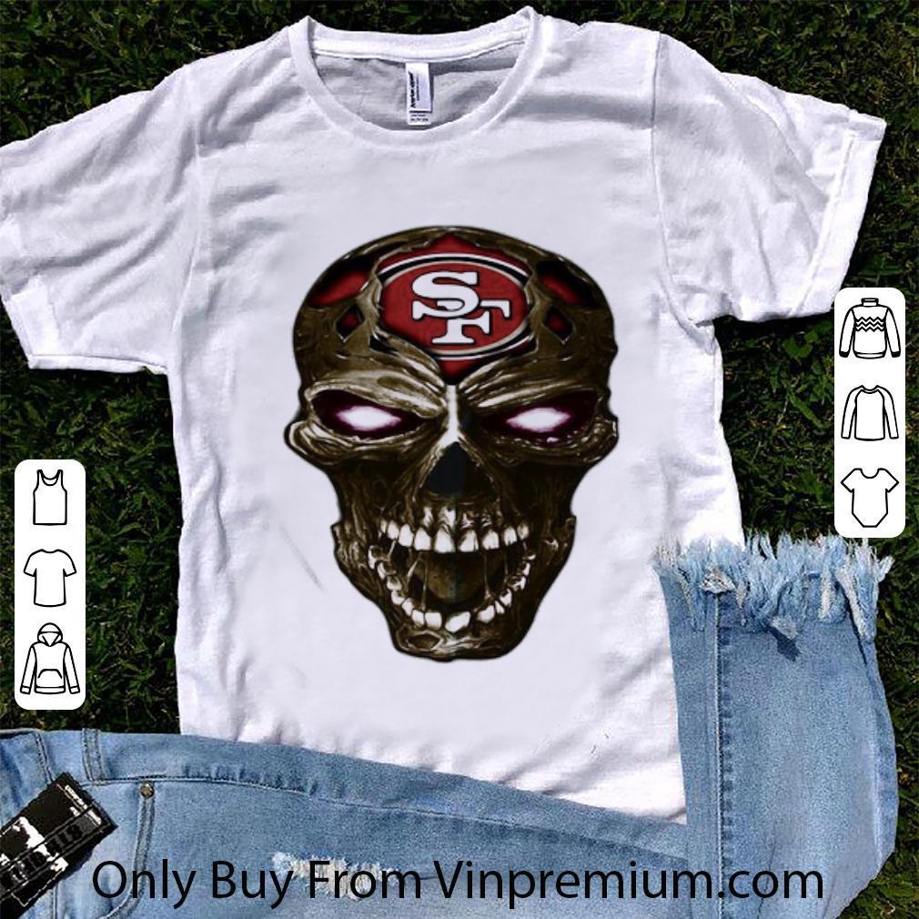 Premium Skull San Francisco 49ers Football Logo Light shirt