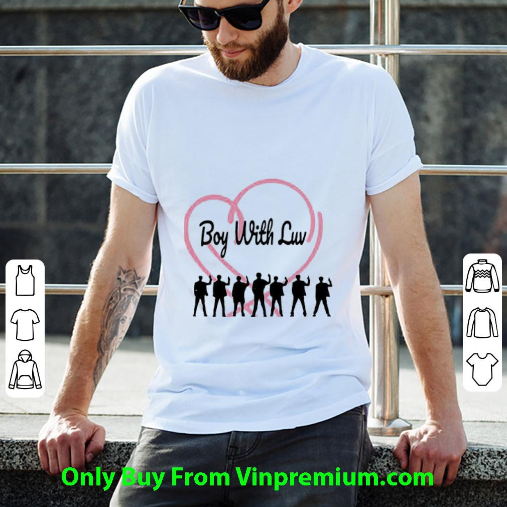Awesome Bts Band Members Boy With Luv Heart shirt