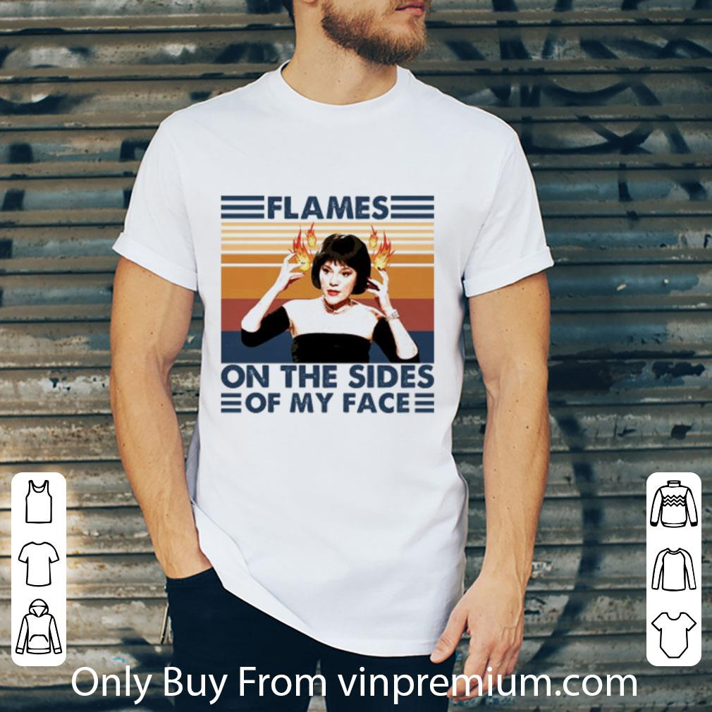 Great Flames On The Sides Of My Face Vintage shirt