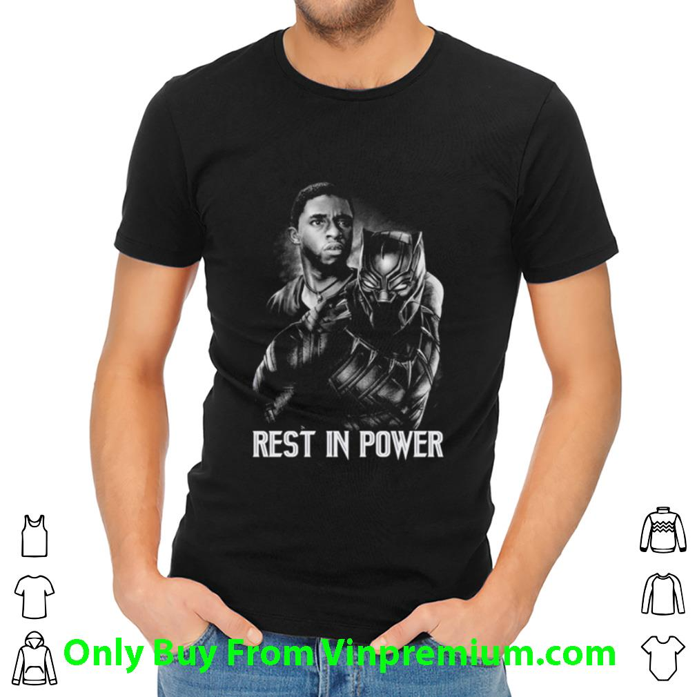 Great Chadwick Boseman Black Panther Rest In Power shirt