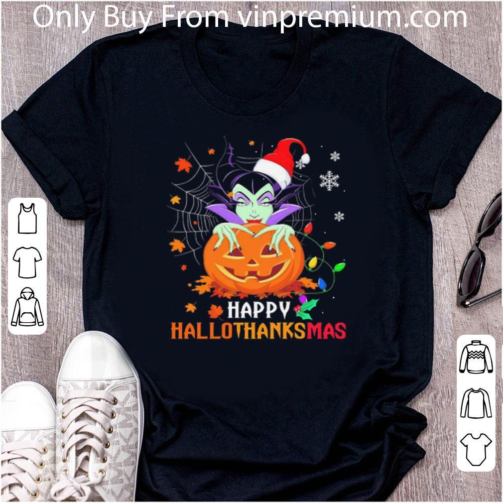 Great Maleficent Pumpkin Happy Hallothanksmas shirt