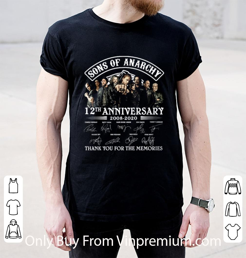 Awesome Sons Of Anarchy 12th Anniversary 2008-2020 Thank You For The Memories Signature shirt