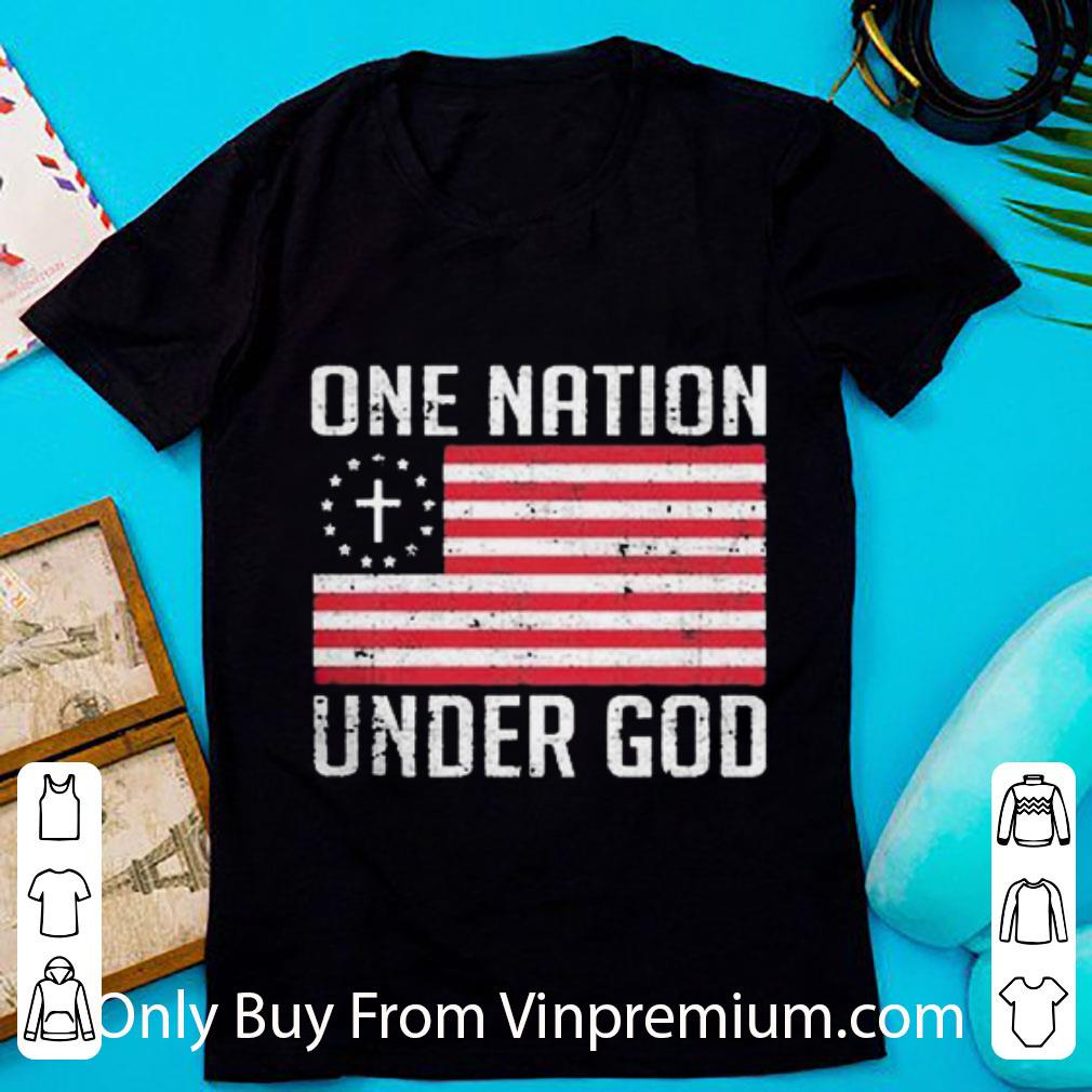 Awesome One Nation Under God American Flag shirt