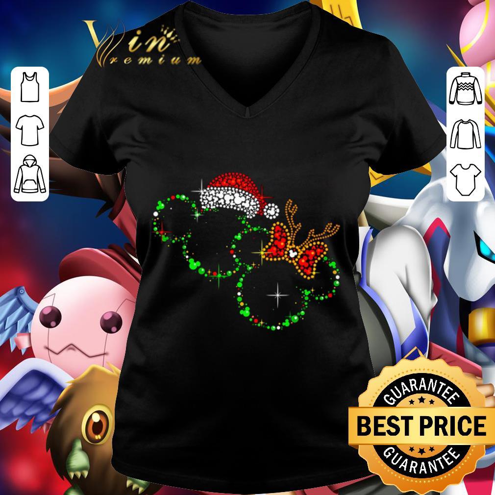 Awesome Diamond Disney Mickey Santa Reindeer Christmas shirt