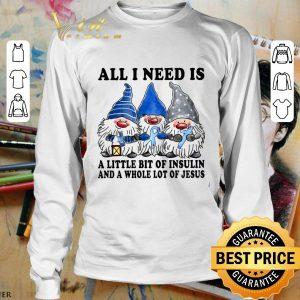 Best Gnomes a little bit of insulin Jesus Diabetes Awareness Christmas shirt 2