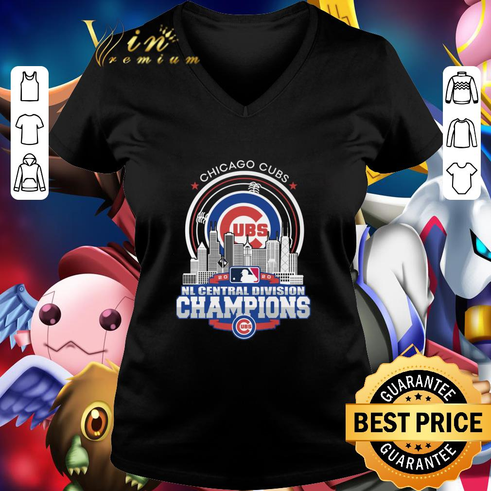 Awesome Chicago Cubs 2020 NL Central Division Champions shirt