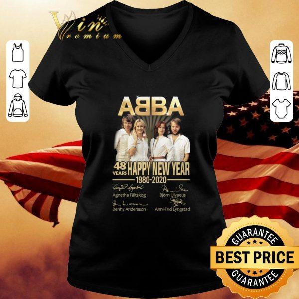 Premium ABBA Band 48 Years Happy New Year 1980-2020 Member Signatures shirt