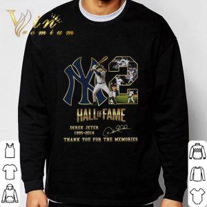 2 Yankees Hall Of Fame Derek Jeter 1995-2014 Signature shirt 2