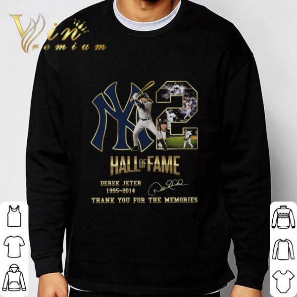 2 Yankees Hall Of Fame Derek Jeter 1995-2014 Signature shirt