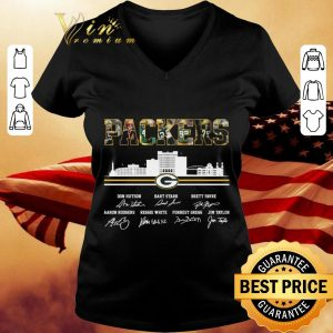 Awesome Green Bay Packers city signatures shirt 2