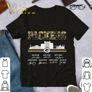 Awesome Green Bay Packers city signatures shirt