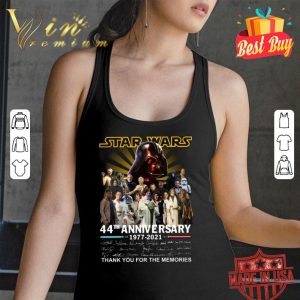 Awesome All character Star Wars 44th Anniversary 1977-2021 Signatures shirt 2