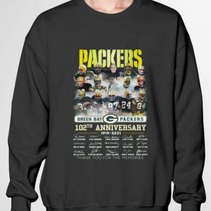 Awesome Coach Team Green Bay Packers 102th Anniversary 1919-2021 Signatures shirt 2