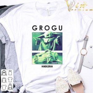 Star Wars Baby Yoda Grogu Attack Then Nap R14 The Mandalorian shirt 2