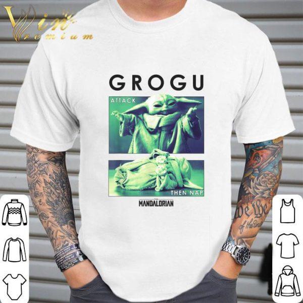 Star Wars Baby Yoda Grogu Attack Then Nap R14 The Mandalorian shirt