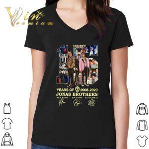 Awesome 15 Years Of 2005-2020 Jonas Brothers Signatures Nick Jonas shirt 2
