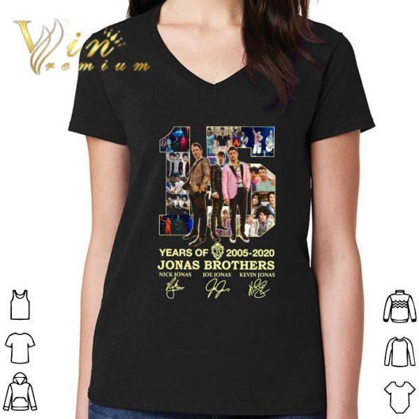 Awesome 15 Years Of 2005-2020 Jonas Brothers Signatures Nick Jonas shirt