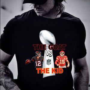 Original The Goat vs The Kid Super Bowl 2021 Tom Brady TB Bucs vs KC Chiefs Patrick Mahomes Shirt