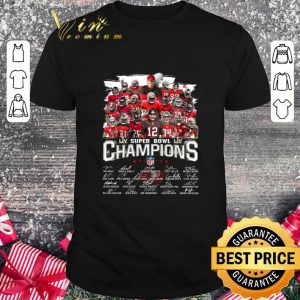 Funny Team Player Tampa Bay Buccaneers LIV Super Bowl LIV Champions NFL Signatures shirt