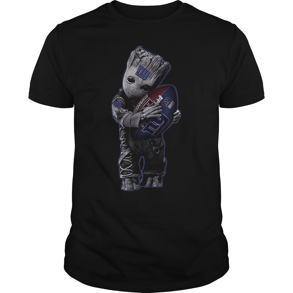 Baby Groot Hug New York Giants Football NFL T-Shirt 1