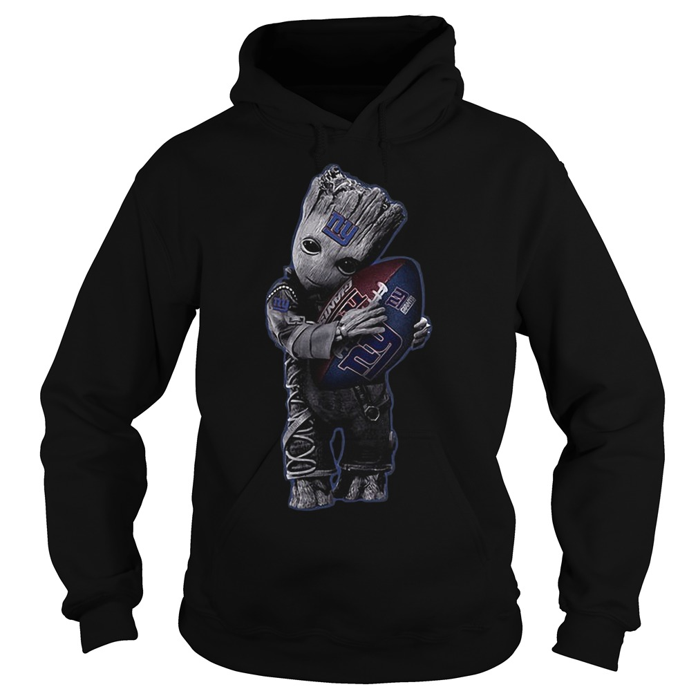 Baby Groot Hug New York Giants Football NFL T-Shirt Hoodie
