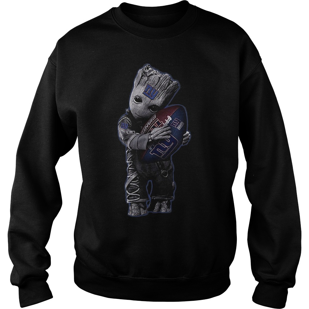 Baby Groot Hug New York Giants Football NFL T-Shirt Sweatshirt Unisex