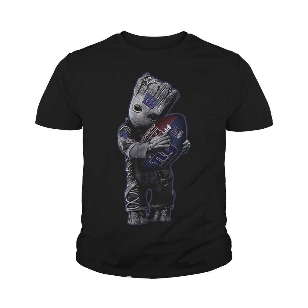 Baby Groot Hug New York Giants Football NFL T-Shirt Youth Tee