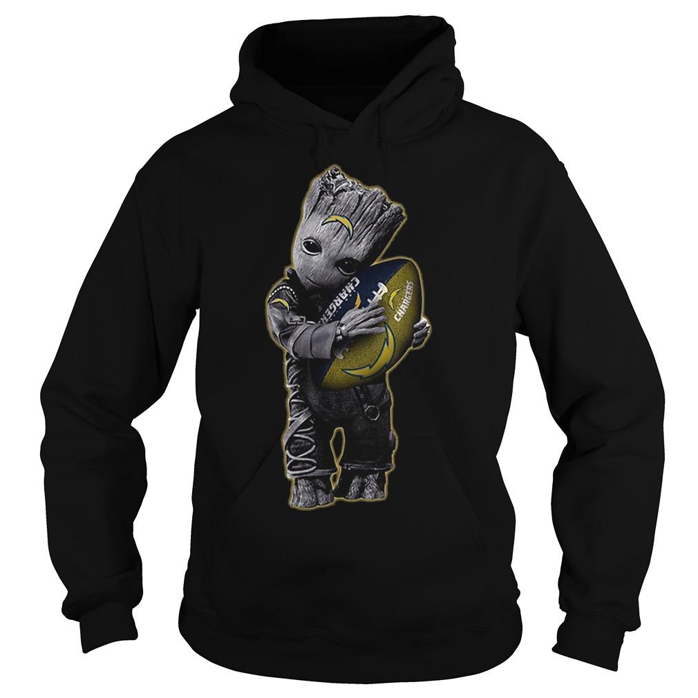 Baby Groot Hug San Diego Chargers Football NFL T-Shirt Hoodie