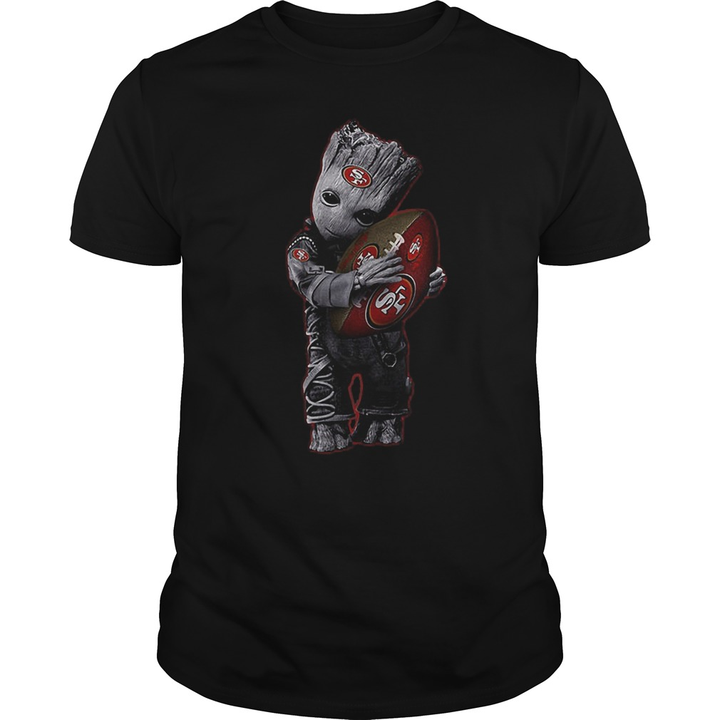 Baby Groot Hug San Francisco 49ers Football NFL T-Shirt