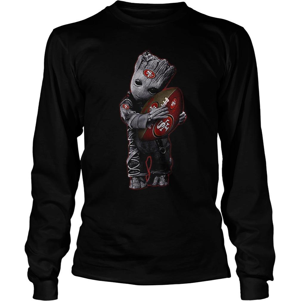 Baby Groot Hug San Francisco 49ers Football NFL T-Shirt Longsleeve Tee Unisex