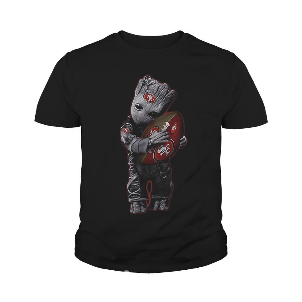 Baby Groot Hug San Francisco 49ers Football NFL T-Shirt Youth Tee