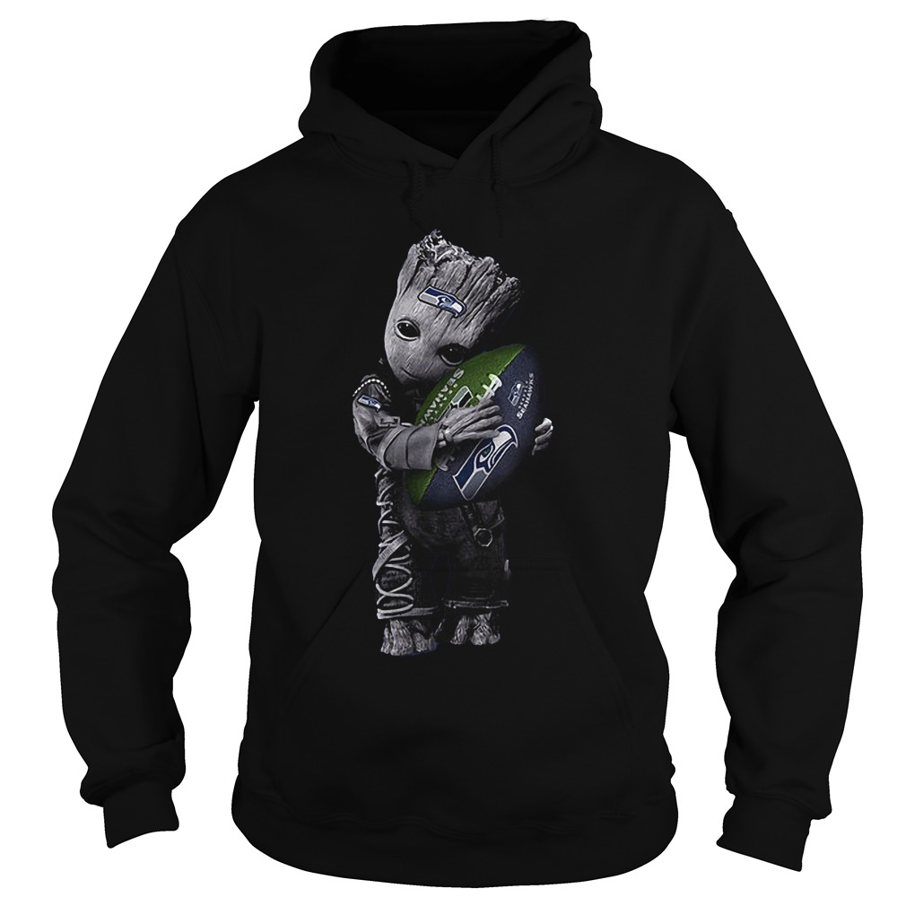 Baby Groot Hug Seattle Seahawks Football NFL T-Shirt Hoodie