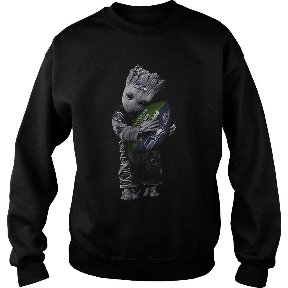 Baby Groot Hug Seattle Seahawks Football NFL T-Shirt Sweatshirt Unisex