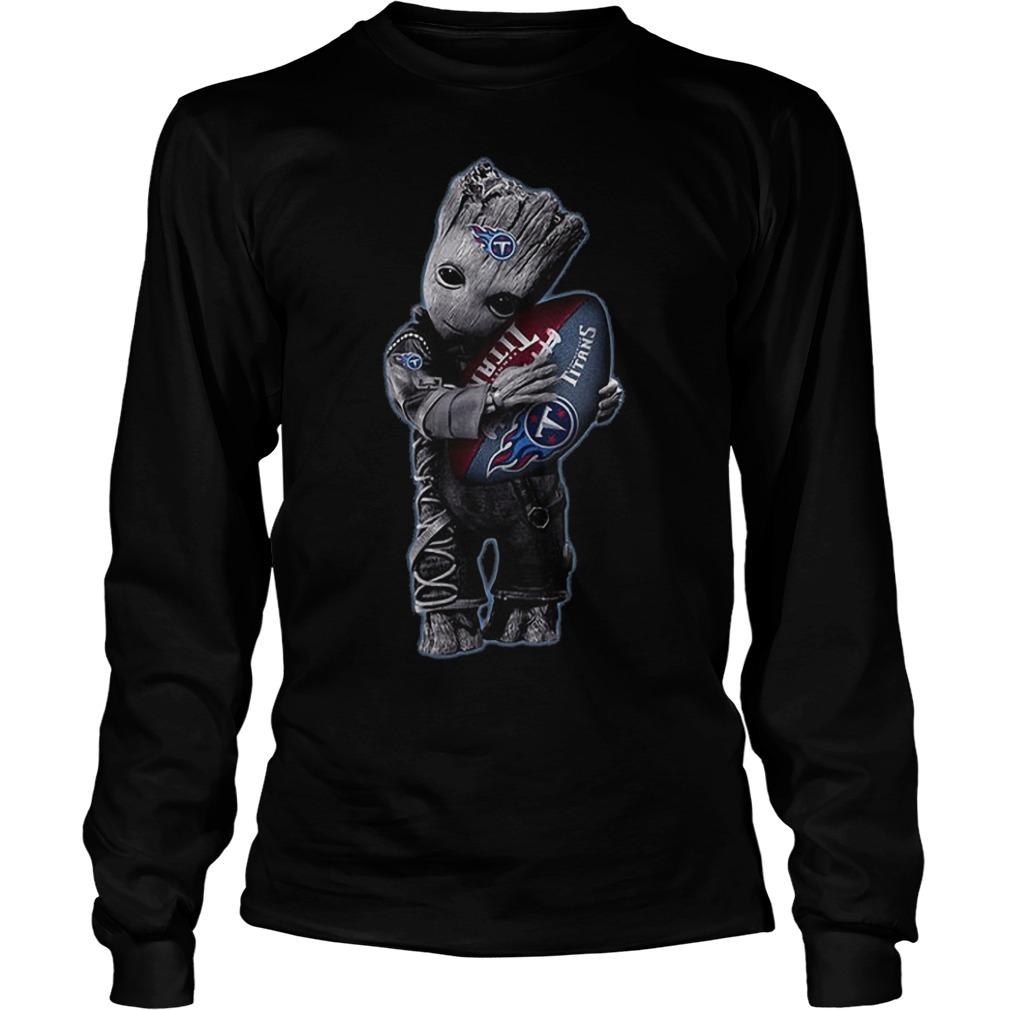 Baby Groot Hug Tennessee Titans Football NFL T-Shirt Longsleeve Tee Unisex