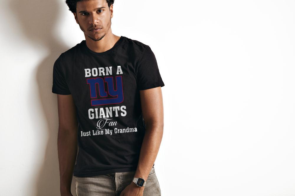 Born A New York Giants Fan Just Like My Grandma T-Shirt 2