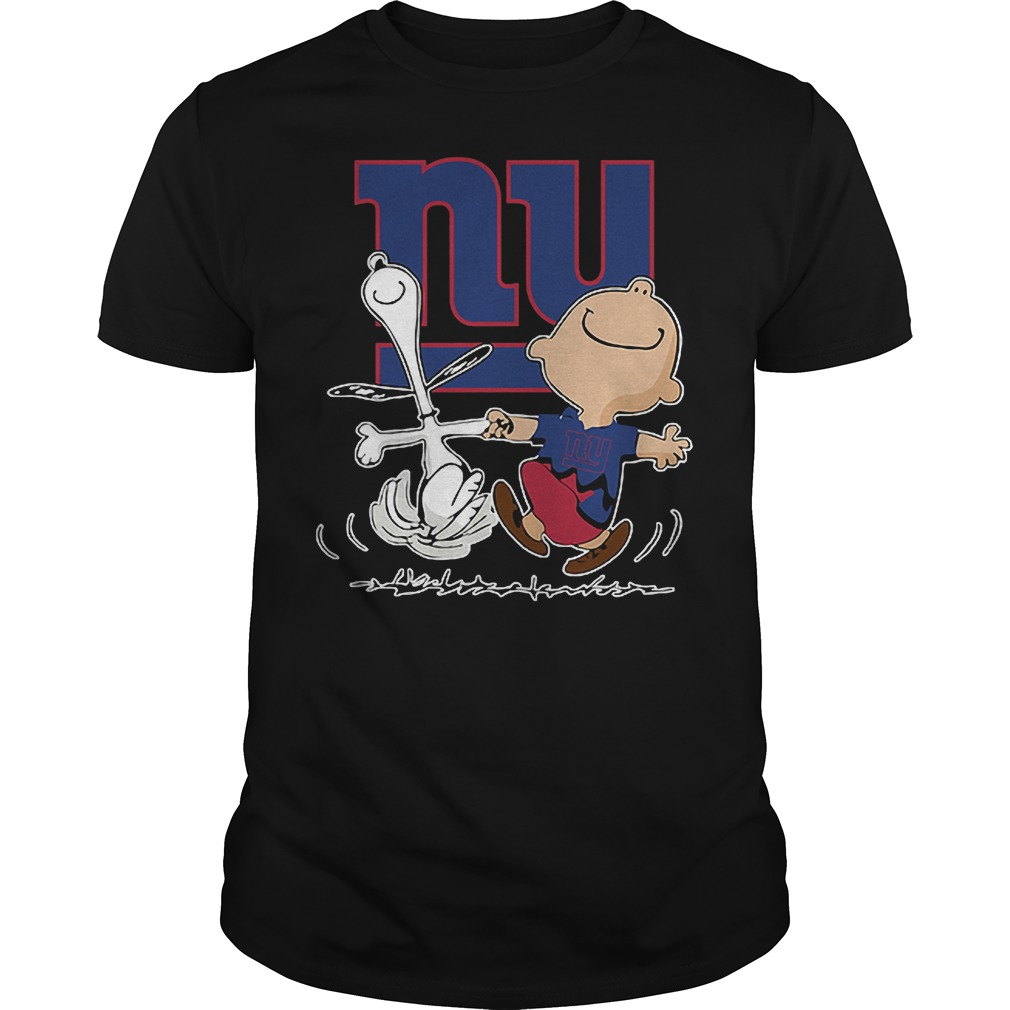 Charlie Brown And Snoopy: New York Giants T-Shirt Classic Guys / Unisex Tee
