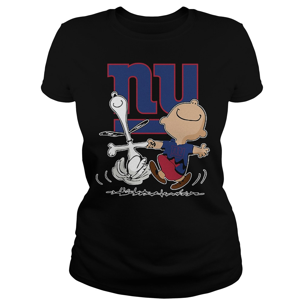 Charlie Brown And Snoopy: New York Giants T-Shirt Classic Ladies Tee