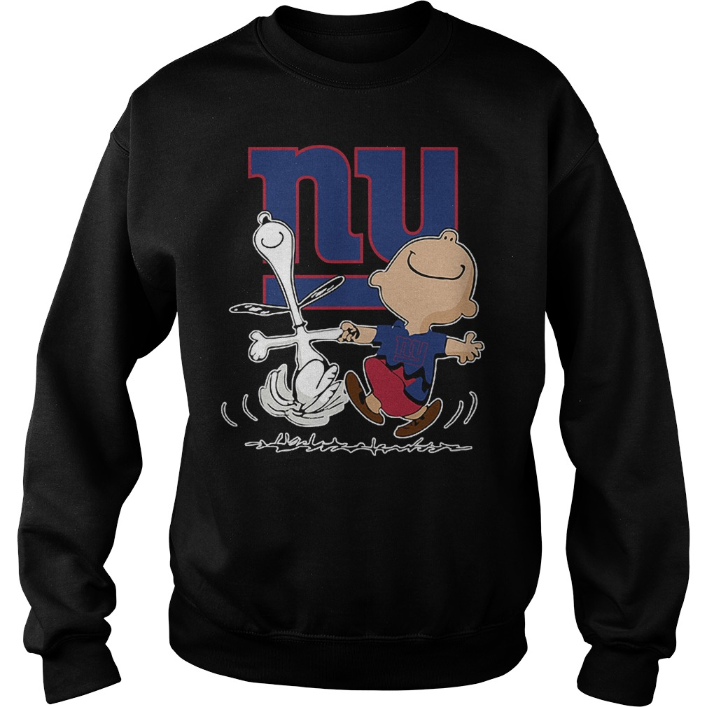 Charlie Brown And Snoopy: New York Giants T-Shirt Sweatshirt Unisex