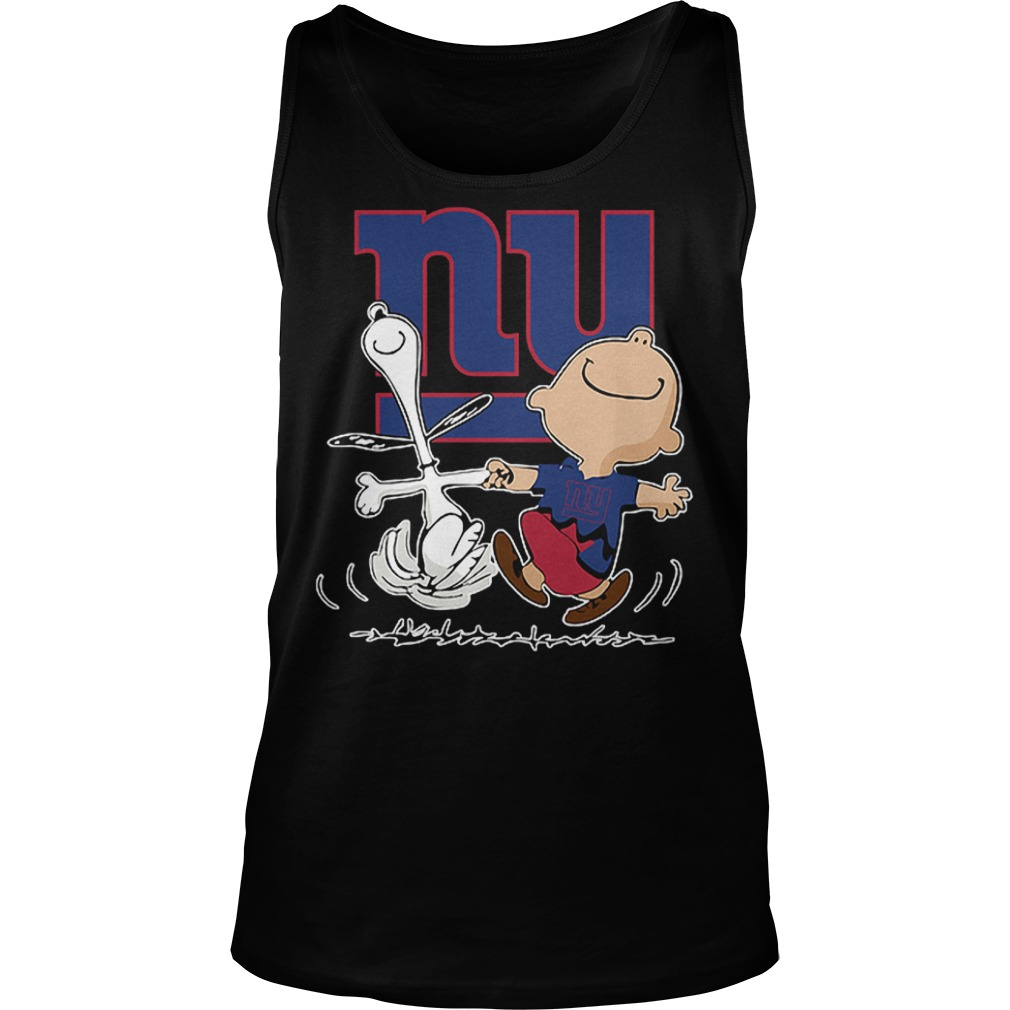 Charlie Brown And Snoopy: New York Giants T-Shirt Tank Top Unisex
