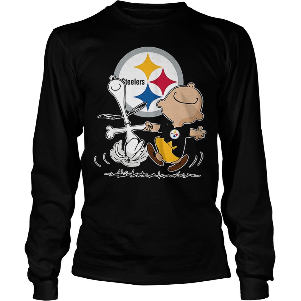 Charlie Brown And Snoopy: Pittsburgh Steelers T-Shirt Longsleeve Tee Unisex