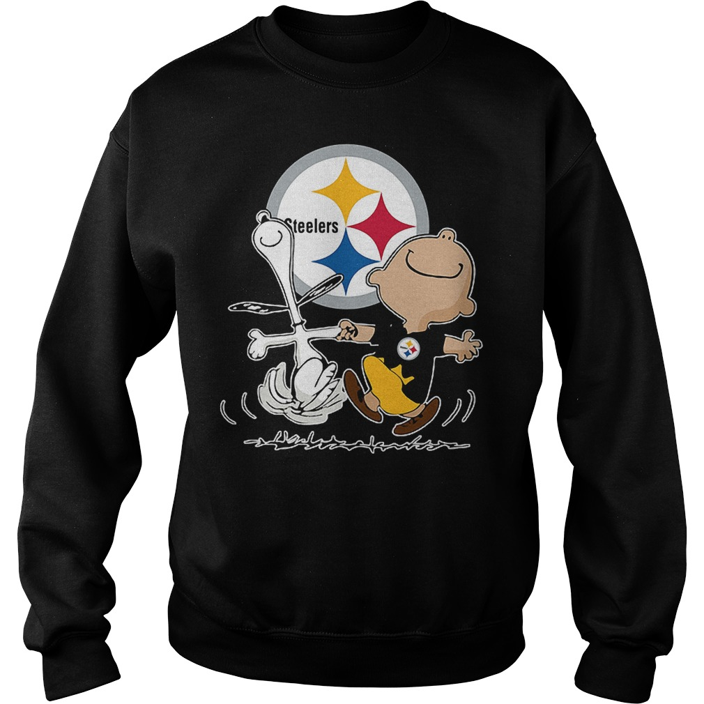 Charlie Brown And Snoopy: Pittsburgh Steelers T-Shirt Sweatshirt Unisex
