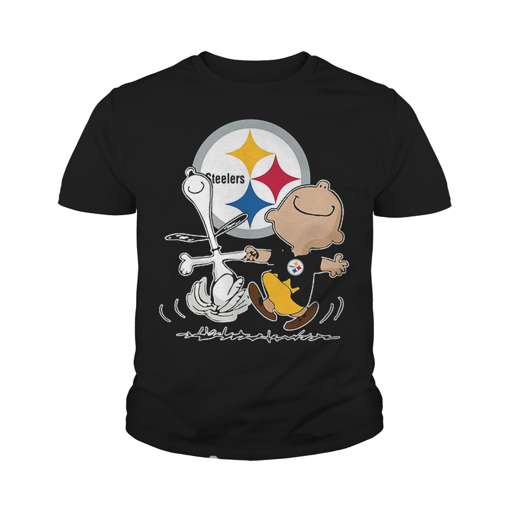 Charlie Brown And Snoopy: Pittsburgh Steelers T-Shirt Youth Tee