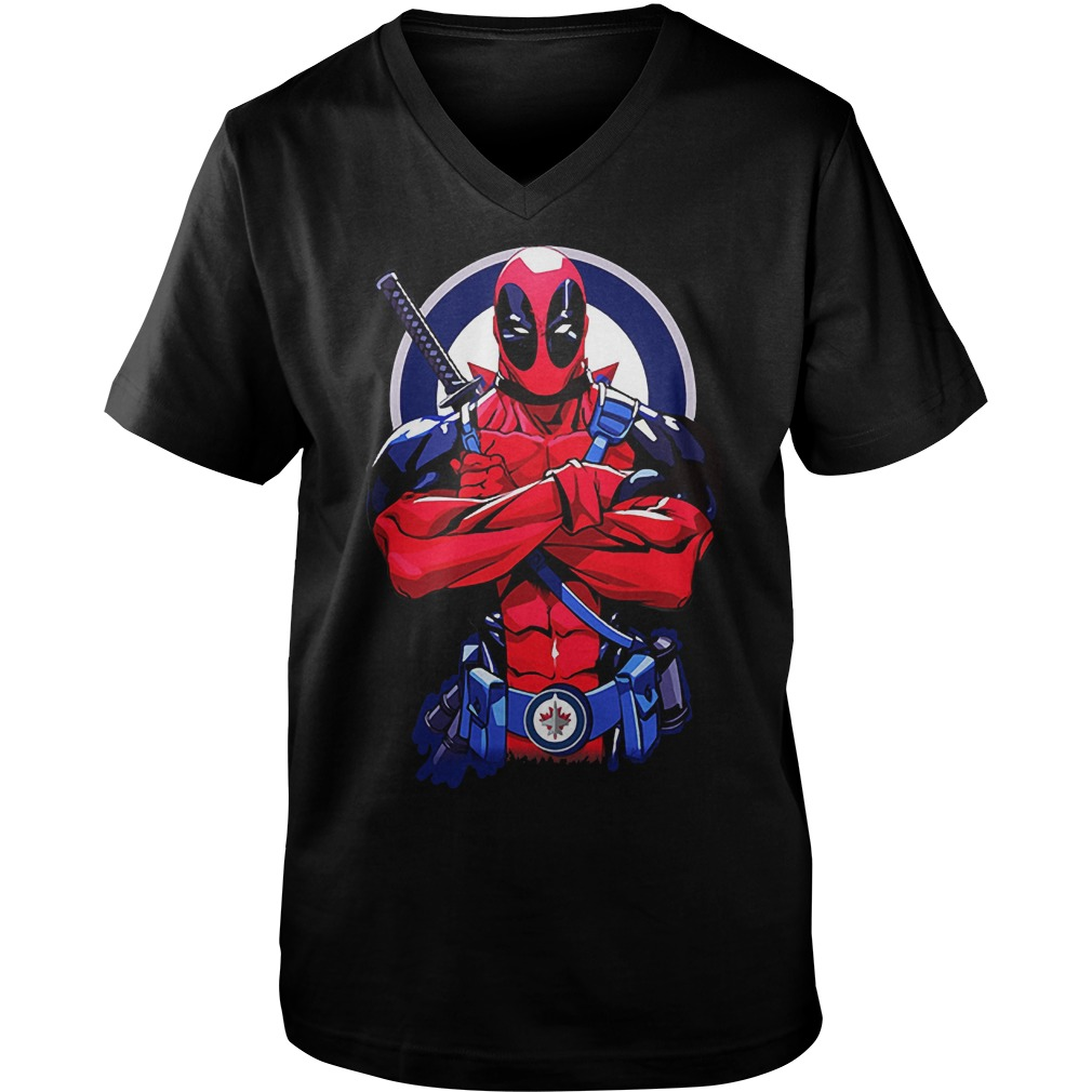Giants Deadpool: Winnipeg Jets KTTEN2807 Guys V-Neck