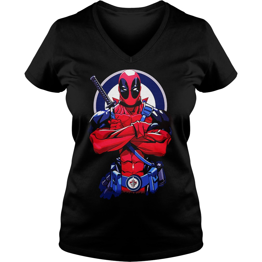 Giants Deadpool: Winnipeg Jets KTTEN2807 Ladies V-Neck