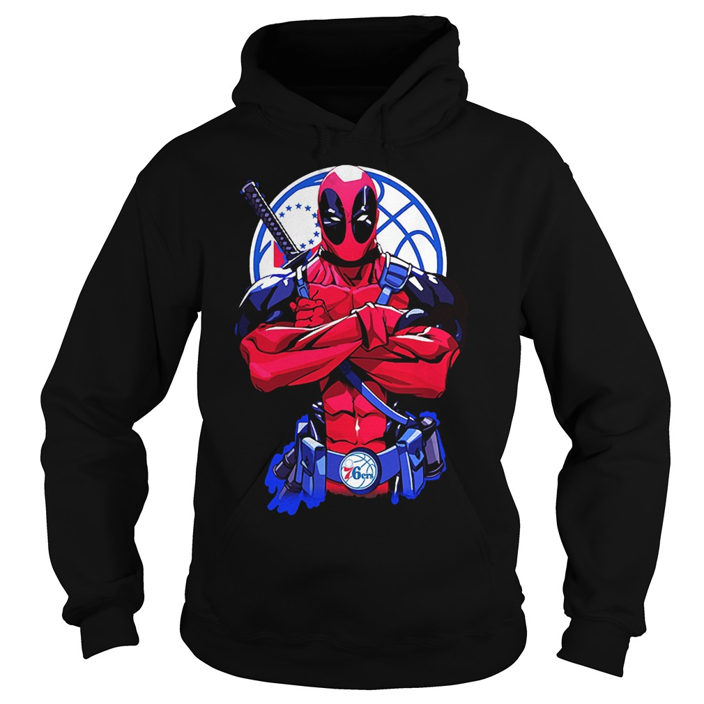 107072 1540886020630 Gildan Hoo Black  w97  front - Giants Deadpool Philadelphia 76ers shirt